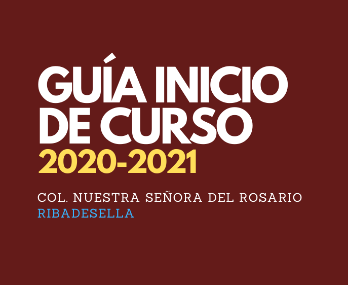 GUÍA INICIO DE CURSO 2020-2021